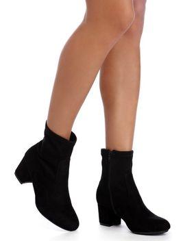 black-basic-suede-booties by windsor