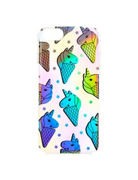 holographic-uni-cones-phone-case by claires