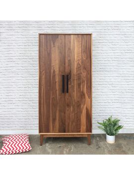 dumont-armoire---solid-walnut---mid-century-modern-inspired by etsy