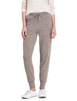 womens-cashmere-jogger-pants by lands-end
