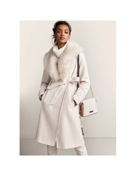 cream-faux-fur-collar-belted-robe-coat by river-island