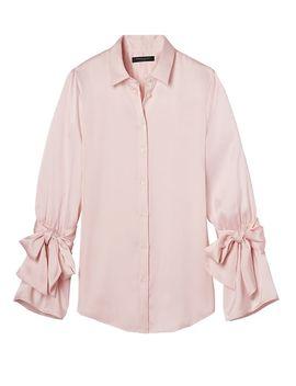 dillon-fit-tie-sleeve-shirt by banana-repbulic