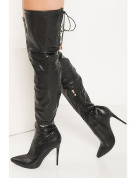 wont-quit-thigh-high-snakeskin-boots by akira