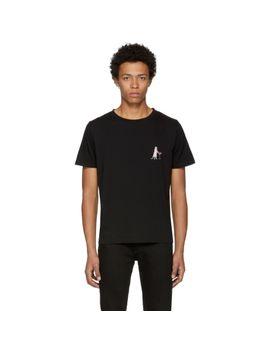 black-martini-cat-t-shirt by saint-laurent