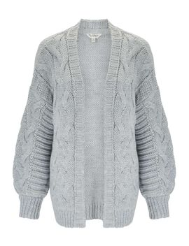grey-cable-cardigan by miss-selfridge