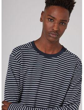 selected-homme-navy-stripe-sweatshirt by topman