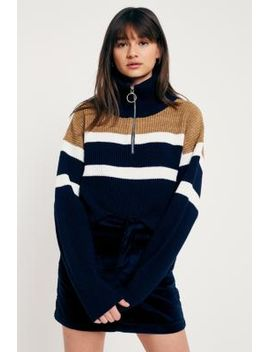 urban-outfitters-fisherman-stripe-funnel-neck-half-zip-fisherman by cooperative-by-urban-outfitters