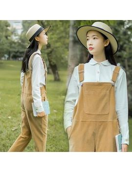 sansweet---corduroy-pinafore-jumpsuit by yesstyle