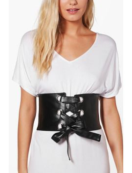 maria-large-eyelet-corset-belt by boohoo