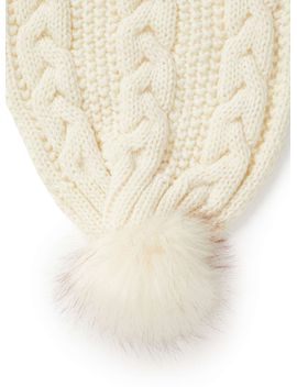 cream-chunky-cable-knit-scarf by miss-selfridge
