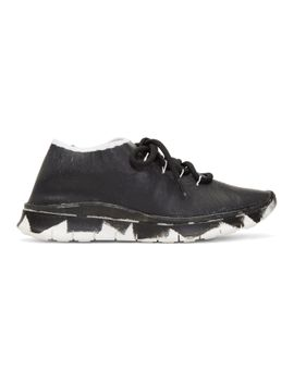 black-&-silver-painted-runner-sneakers by maison-margiela
