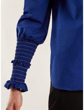 jorda-smocked-cuff-cotton-poplin-shirt by altuzarra
