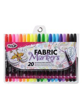 tulip-multi-colored-fine-fabric-markers,-20-piece by tulip