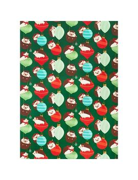hedgehogs-with-ornaments-wrap by paper-source
