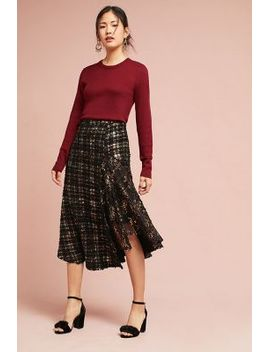metallic-tweed-skirt by eva-franco