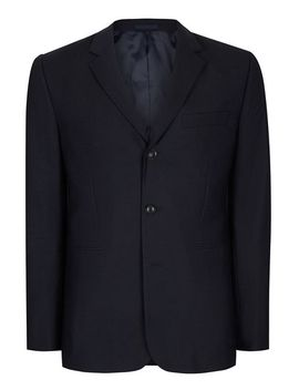 charlie-casely-hayford-x-topman-navy-ribbed-relaxed-fit-weekend-suit-jacket by topman