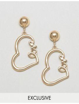 monki-love-slogan-heart-earrings by monki