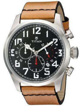 titan-mens-9477sl01-purple-analog-display-quartz-beige-watch by ebay-seller