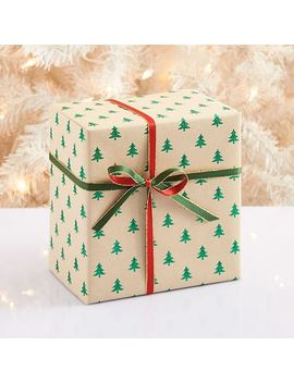 green-glitter-tree-wrapping-paper by paper-source