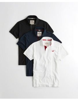 stretch-pique-polo-multipack by hollister