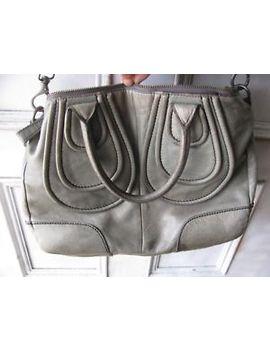 liebeskind-berlin-okayama-gray-leather-satchel-crossbody-bag- by ebay-seller