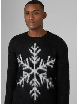 black-snowflake-jumper-with-mohair by topman