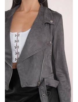 step-on-it-black-faux-suede-moto-jacket by tobi