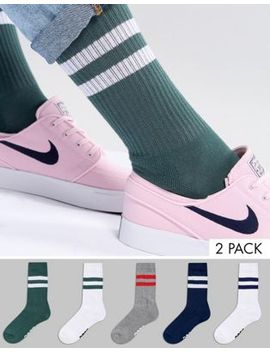 asos-sports-style-socks-in-college-colours-with-branded-sole-5-pack by asos