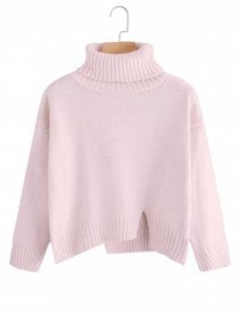 saleslit-oversized-turtleneck-sweater---pink by zaful