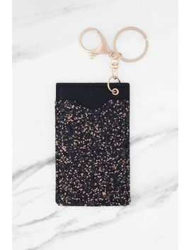 fairy-dust-black-glittered-card-holder-keychain by tobi