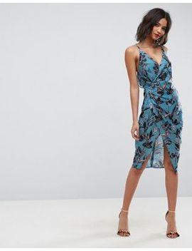 asos---robe-mi-longue-à-fleurs-avec-dos-drapé-à-bretelles by asos-collection