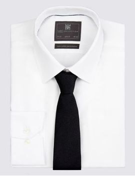 pure-silk-textured-tie by marks-&-spencer