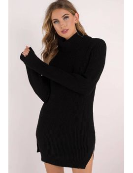 knit-while-youre-ahead-black-sweater-dress by tobi