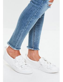 white-flower-slip-on-sneakers by missguided