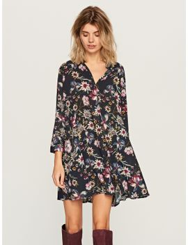 floral-print-shirt-dress by reserved