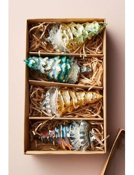 shimmered-tree-clip-on-ornament-set by anthropologie