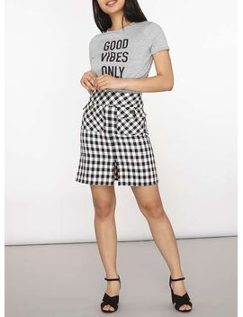 petite-grey-motif-t-shirt by dorothy-perkins