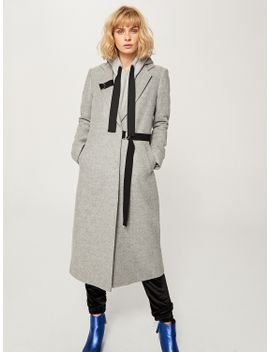 asymmetric-fastening-coat by reserved