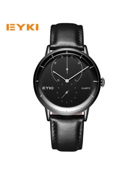 eyki-simple-curved-surface-genuine-leather-quartz-watch-strap-men-watches-2017-luxury-brand-waterproof-clock-men-dropshipping by ali-express
