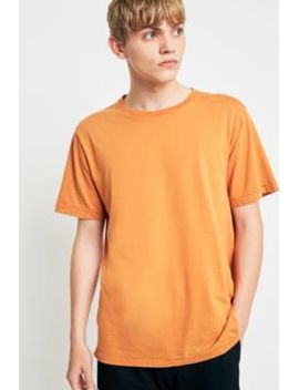 uo-orange-pigment-dye-t-shirt by urban-outfitters