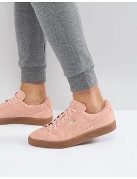 puma-suede-gum-sole-trainers-in-pink-36324220 by puma