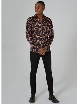 black-premium-paisley-print-long-sleeve-shirt by topman