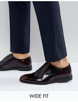 asos-wide-fit-oxford-brogue-shoes-in-burgundy-leather by asos