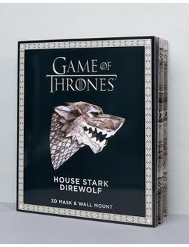 game-of-thrones-house-of-stark-direwolf-mask-and-wall-mount by asos-brand