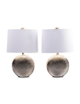 set-of-2-hammered-round-lamps by j-hunt-home