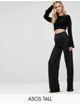 asos-tall-slinky-wide-leg-pants by asos-tall