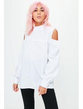 white-smocked-cold-shoulder-top by missguided