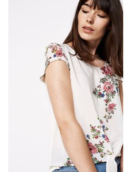 dual-fabric-knotted-blouse by springfield