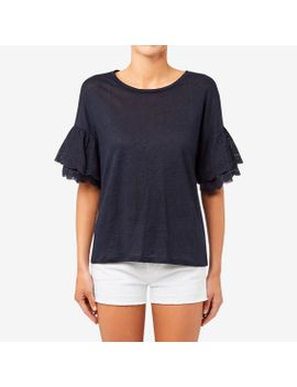 lace-bell-sleeve-top by seed-heritage