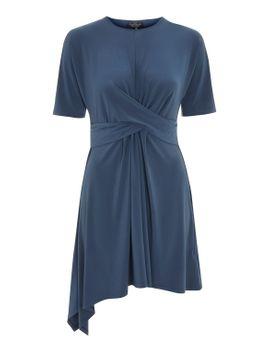 petite-drape-front-mini-dress by topshop